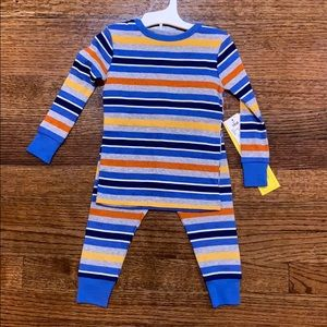 NWT Cat & Jack 2 Piece Fitted Striped Pajama Set